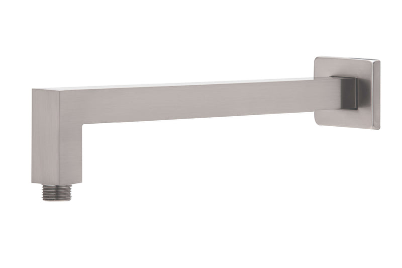 Phoenix Lexi Square Shower Arm 400mm - Brushed Nickel
