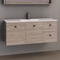 Manhattan 1200mm Wall Hung Vanity with Moulded Top, Single or Double Bowl