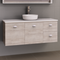 Manhattan 1200mm Wall Hung Vanity with SilkSurface Top and Basin, Single or Double