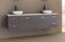 Manhattan 1800mm Wall Hung Vanity with Above Counter Basin, Double Bowl
