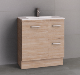 Manhattan 750mm Floor Standing Vanity with Moulded Top