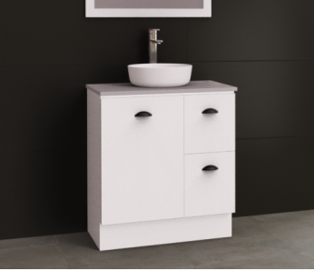 Manhattan 750mm Floor Standing Vanity Unit with Above or Under Counter Basin