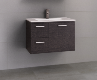 Manhattan 750mm Wall Hung Vanity with Moulded Top