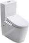 Lafeme Rimless Toilet with Smart Electric Toilet Bidet Seat