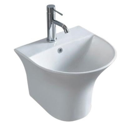 Mercure Wall Basin with Skirt 1th White