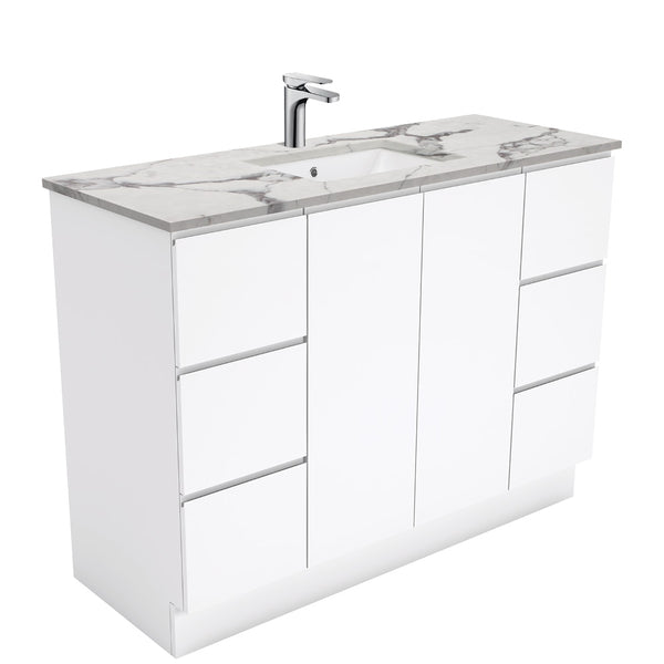 Mia 1200mm Floor Standing Vanity Unit with Stone Top & Undermount Basin