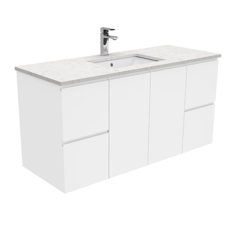 Mia 1200mm Wall Hung Vanity Unit with Stone Top & Undermount Basin