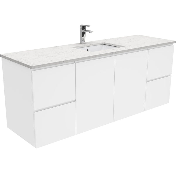 Mia 1500mm Wall Hung Vanity Unit with Stone Top & Undermount Basin