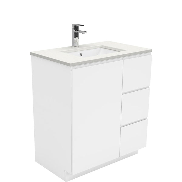 Mia 750mm Floor Standing Vanity Unit with Stone Top & Undermount Basin