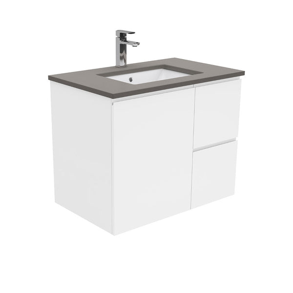 Mia 750mm Wall Hung Vanity Unit with Stone Top & Undermount Basin