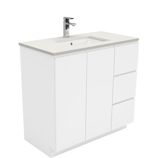 Mia 900mm Floor Standing Vanity Unit with Stone Top & Undermount Basin