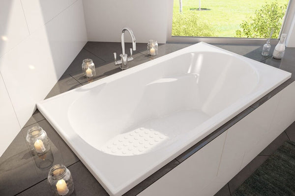 Decina Modena Inset Bath, White - 1210mm / 1510mm / 1650mm / 1790mm