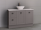 Manhattan Classic 1200mm Floor Standing Vanity with Above Counter Basin