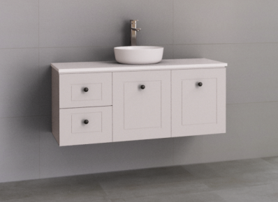 Manhattan Classic 1200mm Wall Hung Vanity, Above / Under Counter Basins
