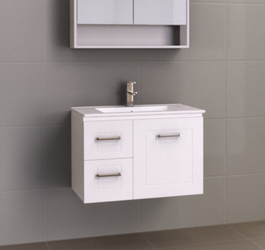 Manhattan Classic 750mm Wall Hung Vanity with Ceramic Top