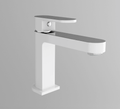 Ecco Basin Mixer, White & Chrome