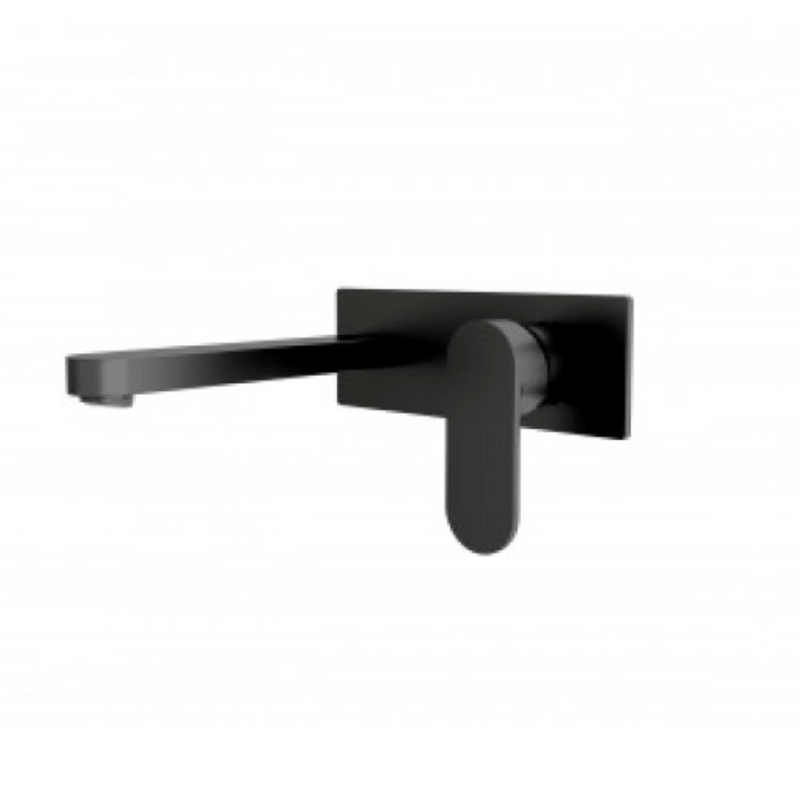 Ecco Wall Mixer & Outlet, Black
