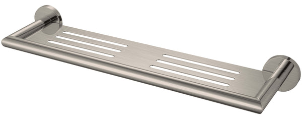 Nero Dolce Metal Shower Shelf 450mm - Brushed Nickel