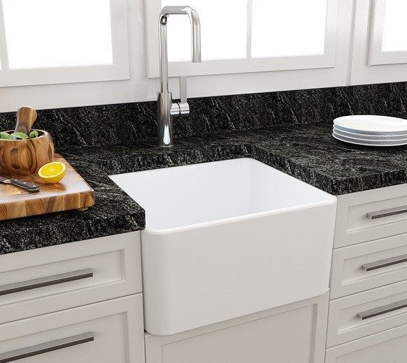 Turner Hastings Novi 51 x 46 Fireclay Single Butler Sink - White
