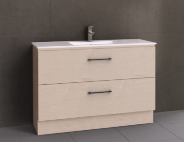 Manhattan All-Drawer 1200mm Floor Standing Vanity, Single or Double Bowl Ceramic Top