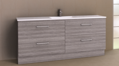 Manhattan All-Drawer 1800mm Floor Standing Vanity with Acrylic Top