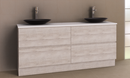 Manhattan All-Drawer 1800mm Floor Standing Vanity, Above or Under Counter Basin, Double Bowl