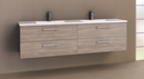 Manhattan All-Drawer 1800mm Wall Hung Vanity with Acrylic Top, Double Bowl