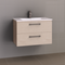 Manhattan All-Drawer 750mm Wall Hung Vanity with Ceramic Top