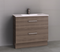 Manhattan All-Drawer 900mm Floor Standing Vanity with Ceramic Top, Centre or Offset