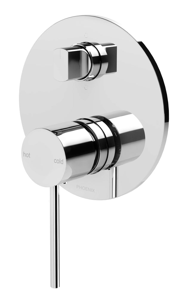 Vivid Slimline Shower/Bath Mixer with Diverter, Chrome