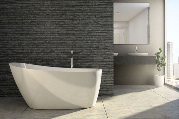 Decina Piccolo Freestanding Bath White, 1400mm/1500mm/1700mm