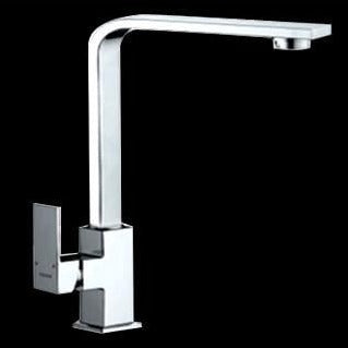 Sole Square Solid Handle Rectangular High Rise Sink Mixer