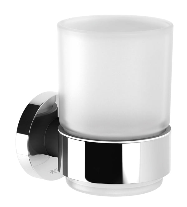 Radii Tumbler & Holder Round - Chrome