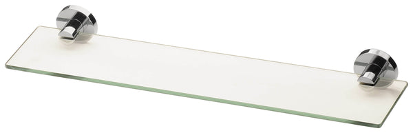 Radii Glass Shelf Round Plate - Chrome