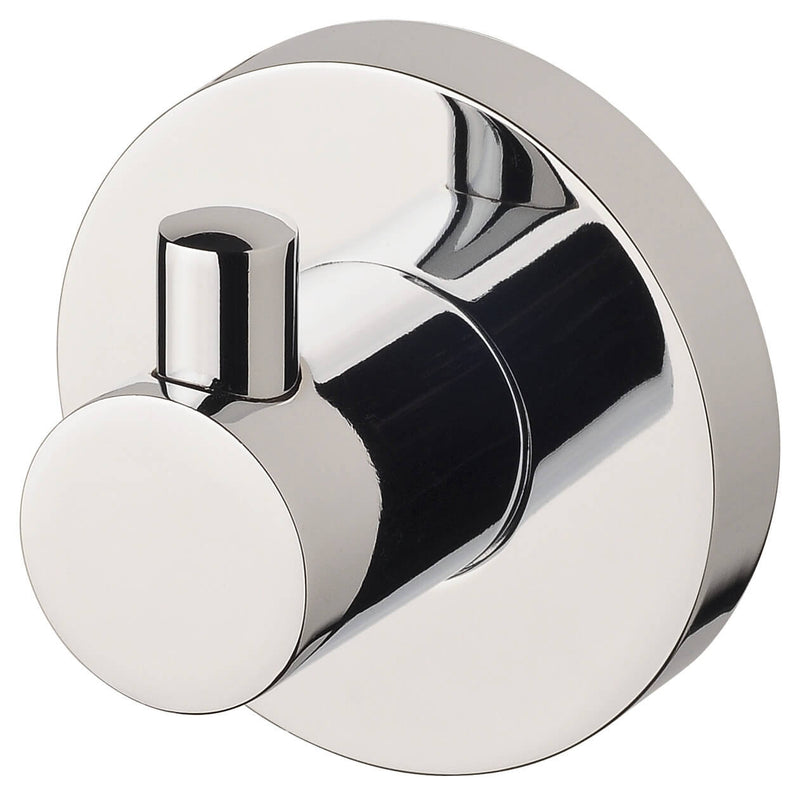 Radii Robe Hook Round Plate - Chrome