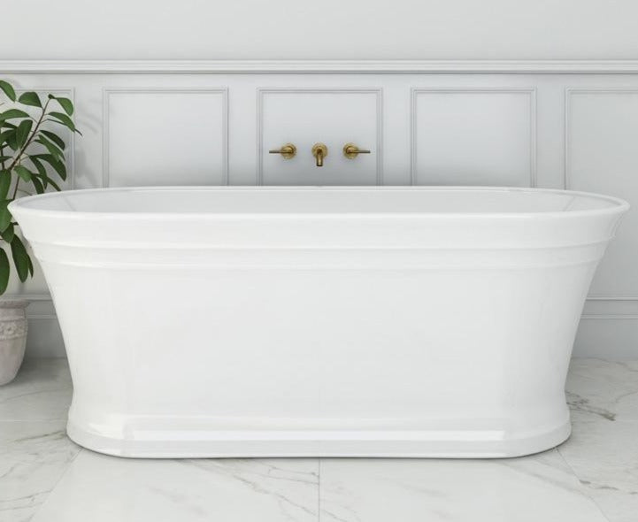 Decina Regent 1700mm Freestanding Bath - White
