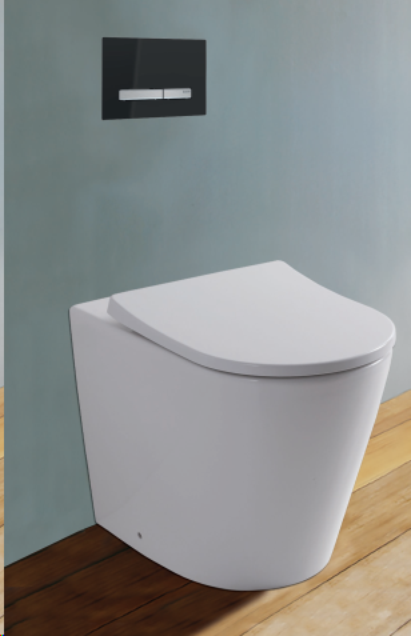 Rimini Rimless Wall Faced Pan with Geberit Inwall Cistern & Button