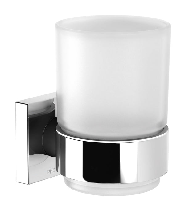 Radii Tumbler & Holder Square - Chrome