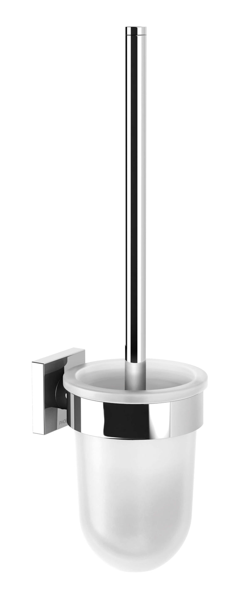 Radii Toilet Brush & Holder Square - Chrome