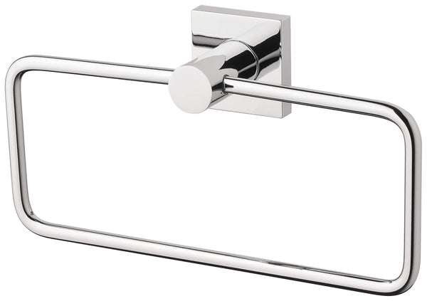 Radii Hand Towel Holder Square Plate - Chrome