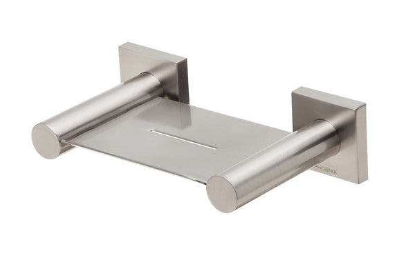 Radii Soap Dish Square Plate - Brushed Nickel