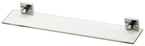 Radii Glass Shelf Square Plate - Chrome