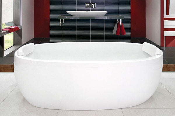 Decina Sheraton 1600mm Freestanding Bath, Acrylic White
