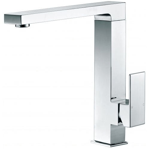 Sole Wide Square Handle Chrome Sink Mixer