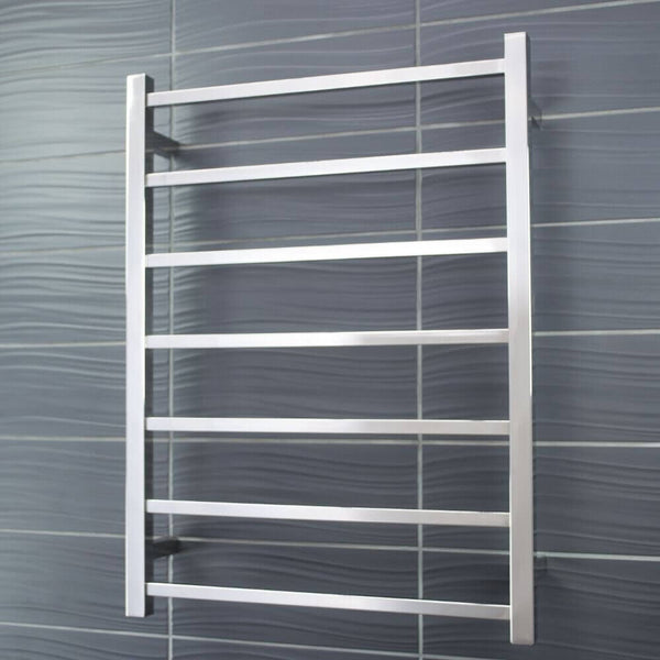 Radiant BRU-STR01 Square Heated Ladder 600x800 Brushed