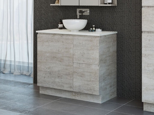 Manhattan 900mm Floor Standing with Above Counter Basin Vanity