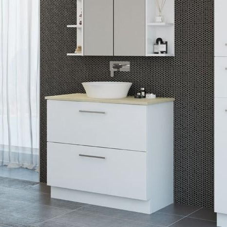 Manhattan All-Drawer 900mm Floor Standing Vanity, Above or Under Counter Basin