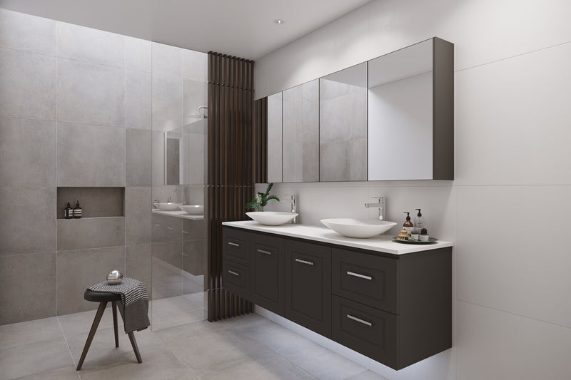 Manhattan Classic 1500mm Wall Hung Vanity, Double Above or Under Counter Basin