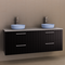 Timberline Thorne 1500mm Wall Hung Vanity with Double Ceramic Basin