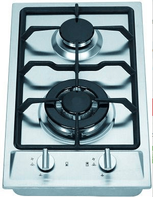 Two Burner Gas Cooktop 50cm with Wok Burner